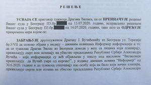 SSP: Sud zabranio Vučićeviću da objavljuje laži o Đilasu 2