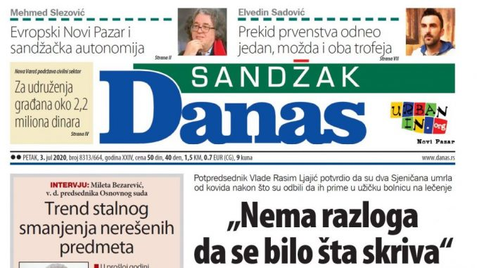 Sandžak Danas - 3. jul 2020. (PDF) 1