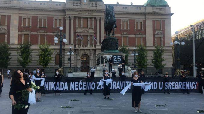 Mirovna akcija Žena u crnom u centru Beograda 1