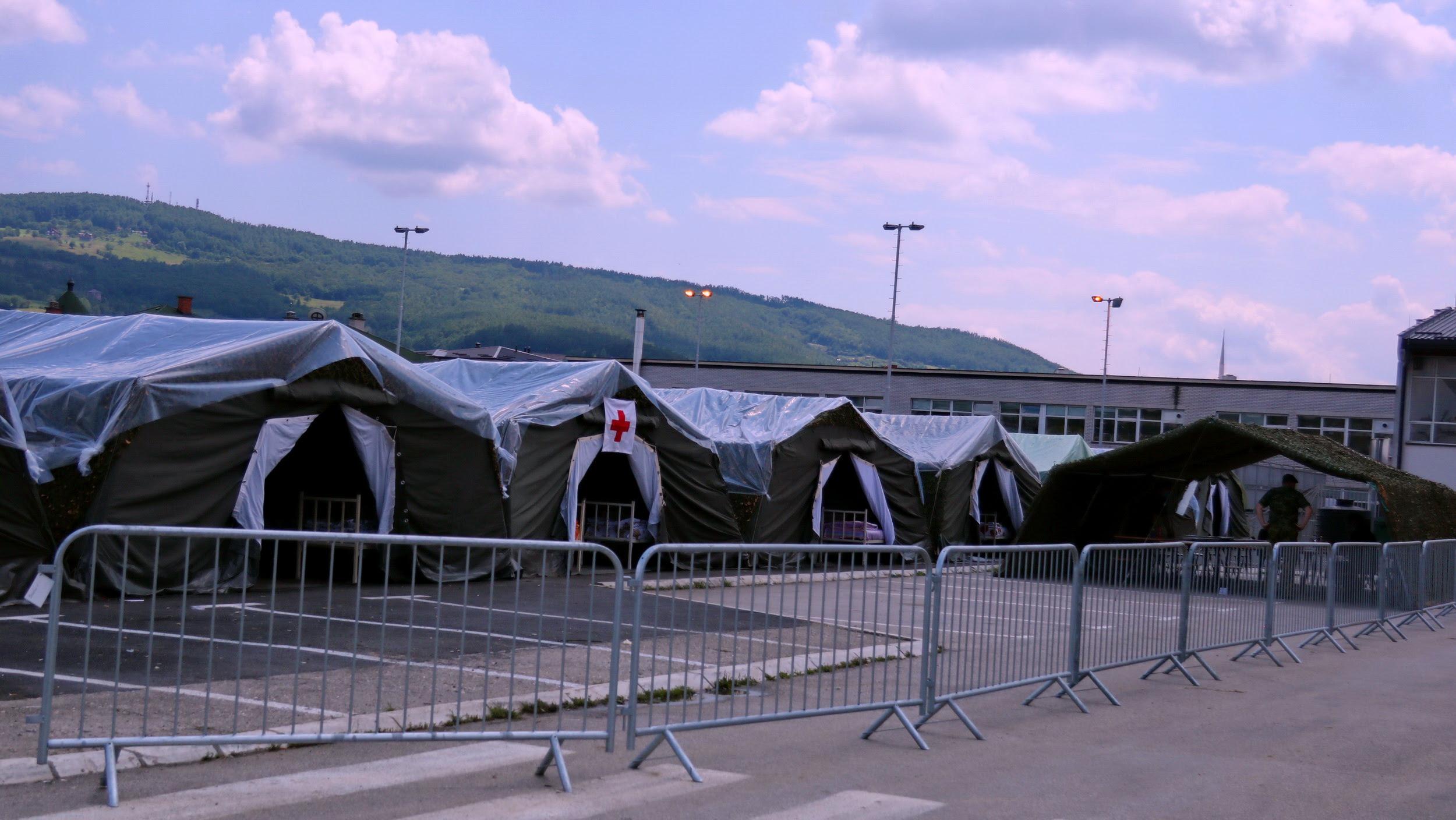Vojska Srbije formirala poljsku bolnicu u Novom Pazaru 1