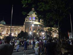 Na petom protestu manje okupljenih nego prethodnih dana (FOTO, VIDEO) 5