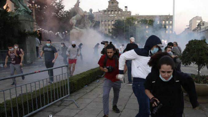 OFID osudio nasilje prema građanima na protestu 1