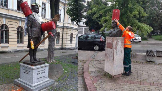 Užice: Oskrnavljeni spomenici Jehlički i bataljonu 1.300 kaplara 3