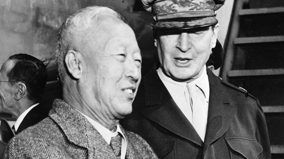 South Korean President Syngman Rhee