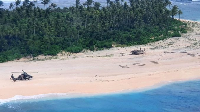 Pacifik: Spaseni sa zabačenog ostrva u Mikroneziji zahvaljujući SOS poruci u pesku 4
