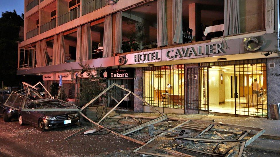 Razbijeni hotel u Bejrutu