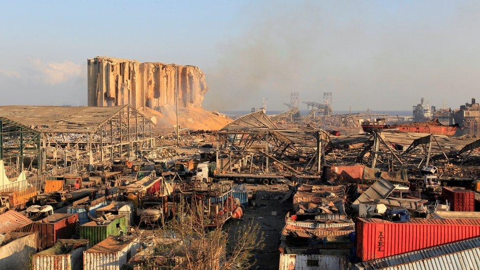Mesto eksplozije u Bejrutu