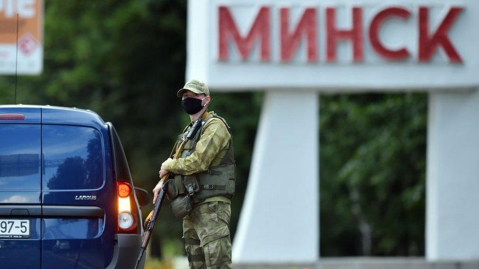 Vojnici na prilazima oko Minska