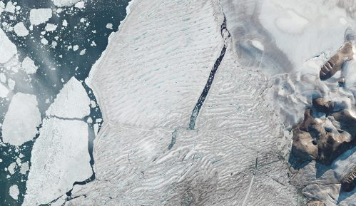 Ledena polica Milne: Sateliti snimili razdvajanje leda na Arktiku 5
