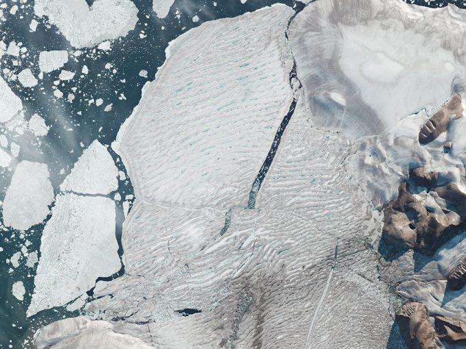 Ledena polica Milne: Sateliti snimili razdvajanje leda na Arktiku 9