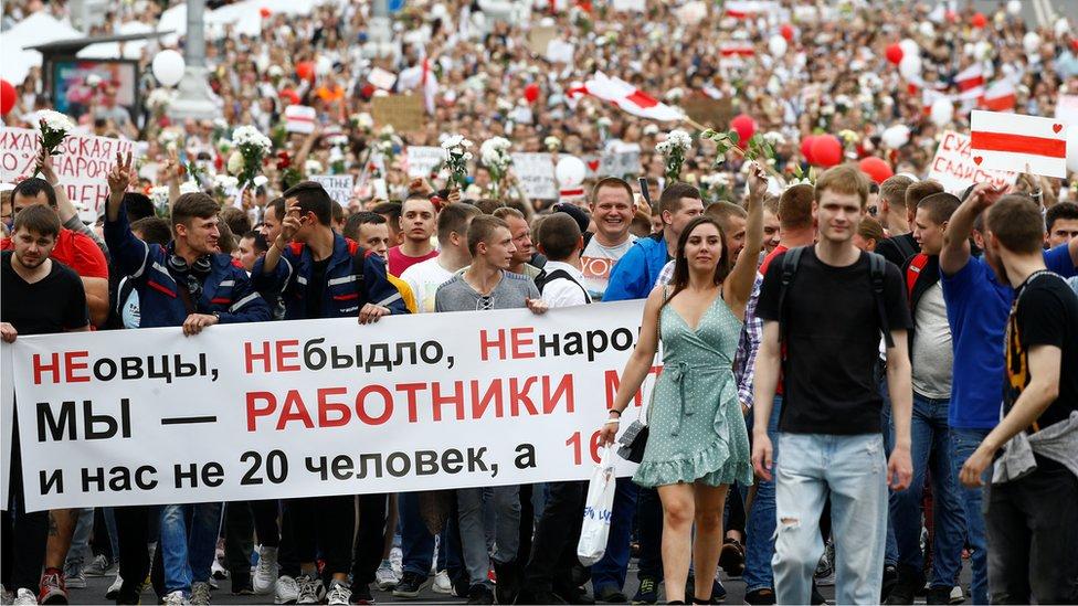 Šesti dan protesta u Belorusiji