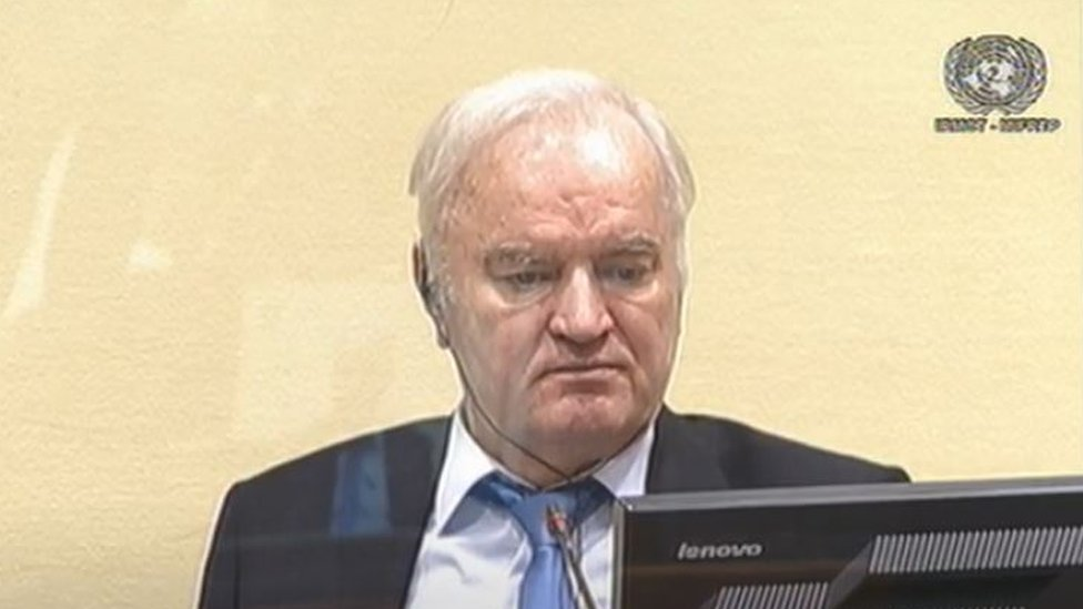 Ratko Mladic in court, 26 August