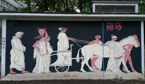 Antički mural o korona virusu u Beogradu 9