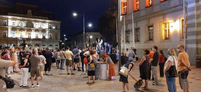 Protest Gađanskog preokreta u Zrenjaninu 1