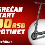 Meridianbet ti poklanja bonus od 500 rsd da uskočiš u trku za električni trotinet 4