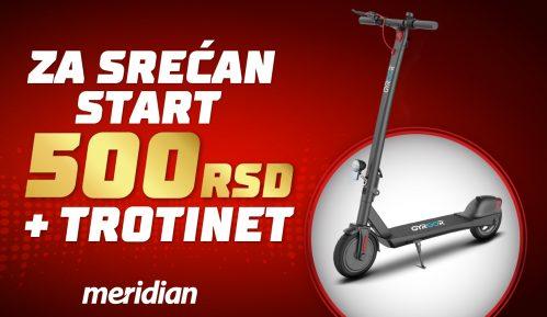 Meridianbet ti poklanja bonus od 500 rsd da uskočiš u trku za električni trotinet 9