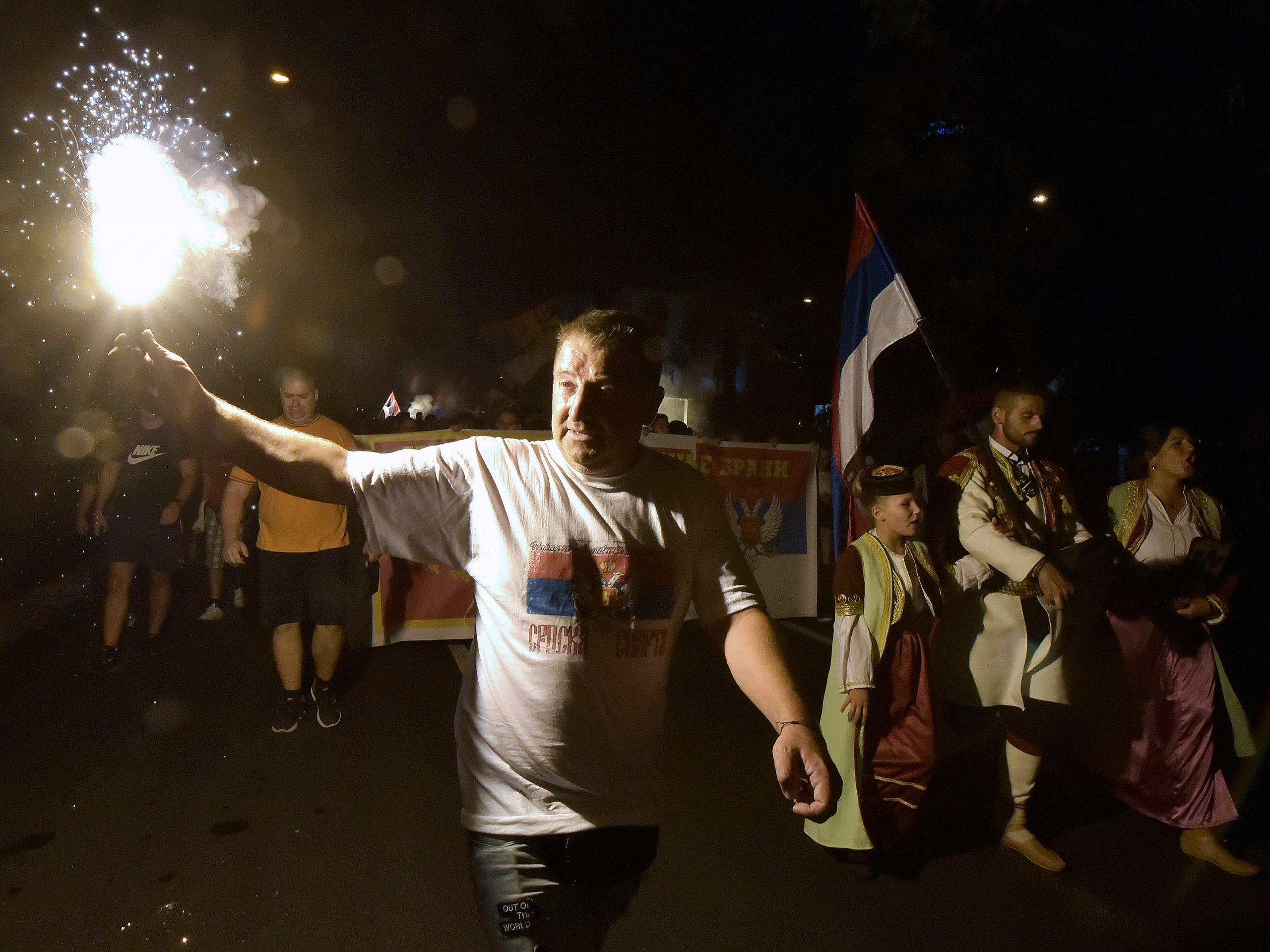 Podgorica: Slavlje pristalica partija koje su pobedile na izborima u CG 1
