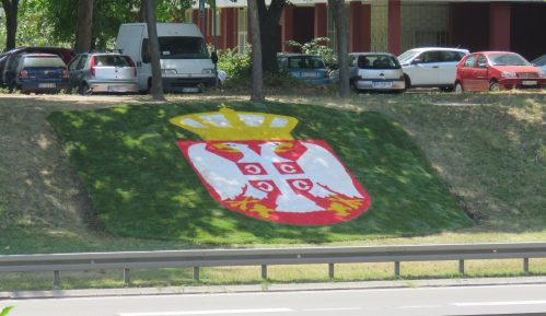 Grb Srbije - novi ukras na autoputu kroz Beograd 6