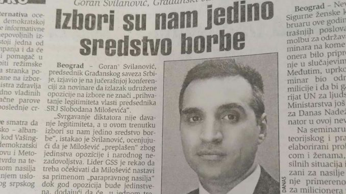 Šta su pre 20 godina zagovarali GSS i Goran Svilanović? 3