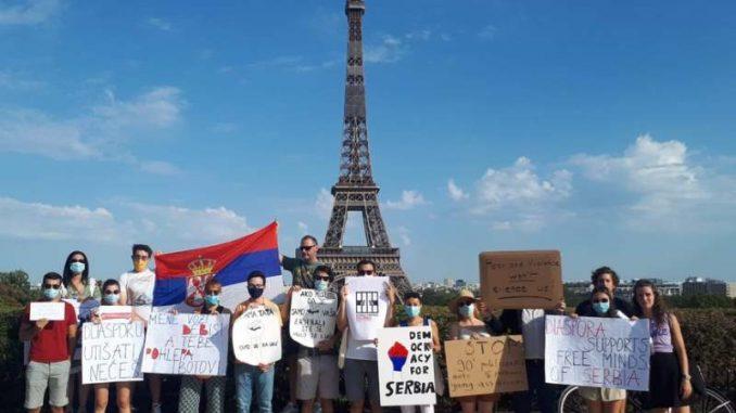 Globalni protest dijaspore za demokratiju u Srbiji (VIDEO) 2