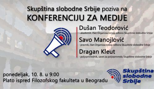 Konferencija Skupštine slobodne Srbije 10. agvusta na platou Filozofskog fakulteta 5