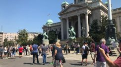 Građani se razišli posle protesta ispred Skupštine Srbije (FOTO) 2