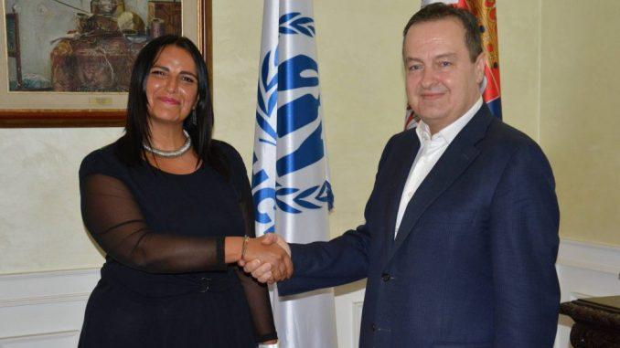 Dačić sa novom šeficom predstavništva UNHCR u Srbiji Frančeskom Boneli 4