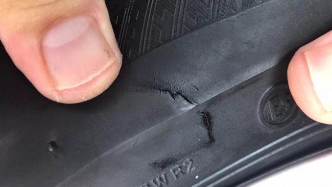 Probušena guma na automobilu urednika TV N1 1