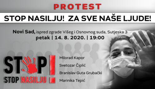 """Protest """"Stop nasilju! Za sve naše ljude!"""" 14. avgusta u Novom Sadu 10"""