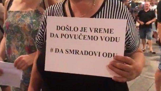 """Protest ispred gradske kuće u Zrenjaninu """"Da smradovi odu"""" (VIDEO) 2"""