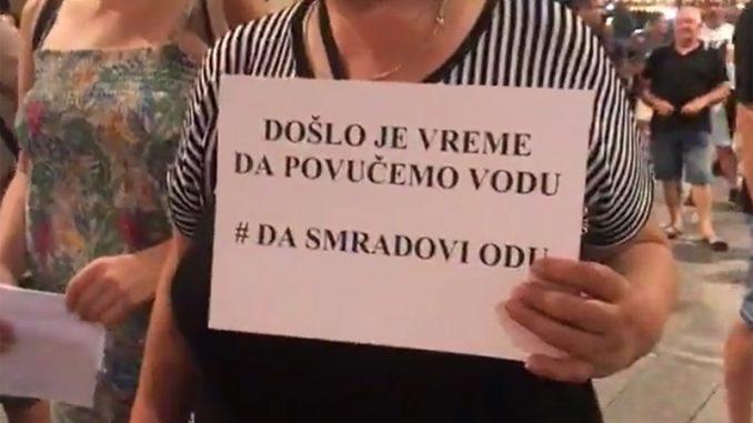 """Protest ispred gradske kuće u Zrenjaninu """"Da smradovi odu"""" (VIDEO) 3"""
