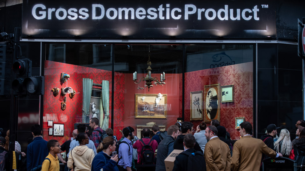 Banksy Gross Domestic Product shop in Croydon