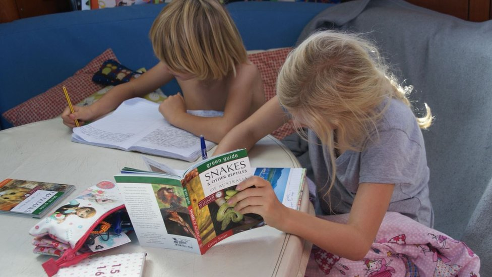 Home-schooling on board ship