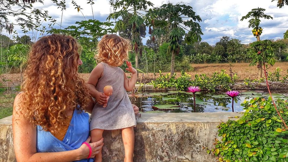 Natasha and Geshem at the Shekina Garden in Pai, Thailand