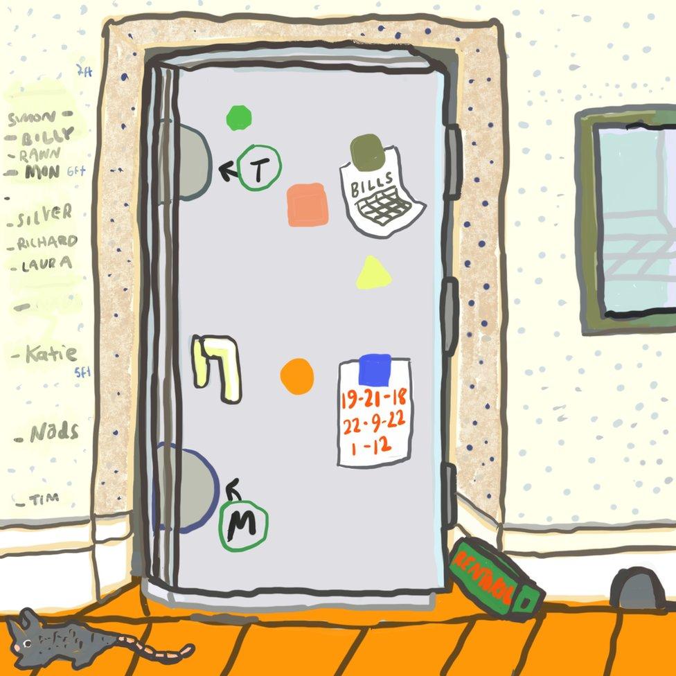 Ilustracija: Crtež na frižideru