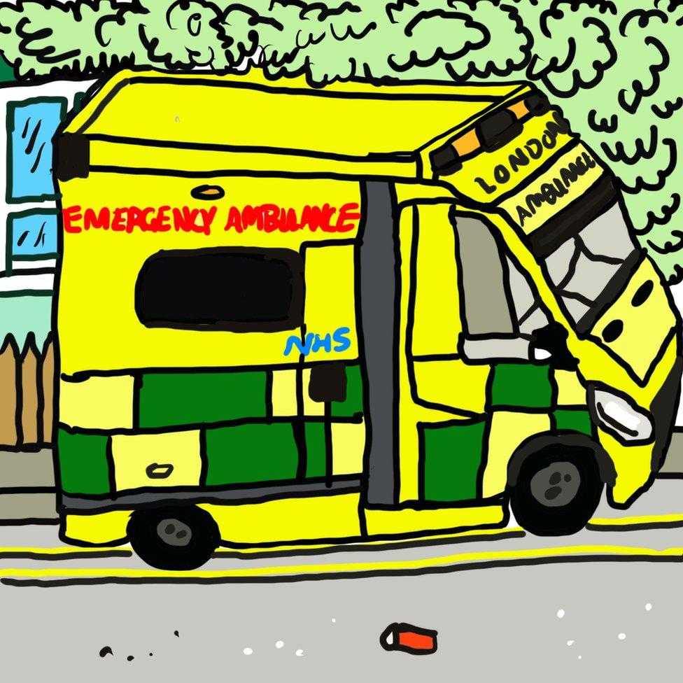 Ilustracija: Ambulatna kola