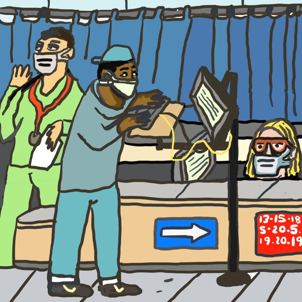 Ilustracija: Vizita u bolnici