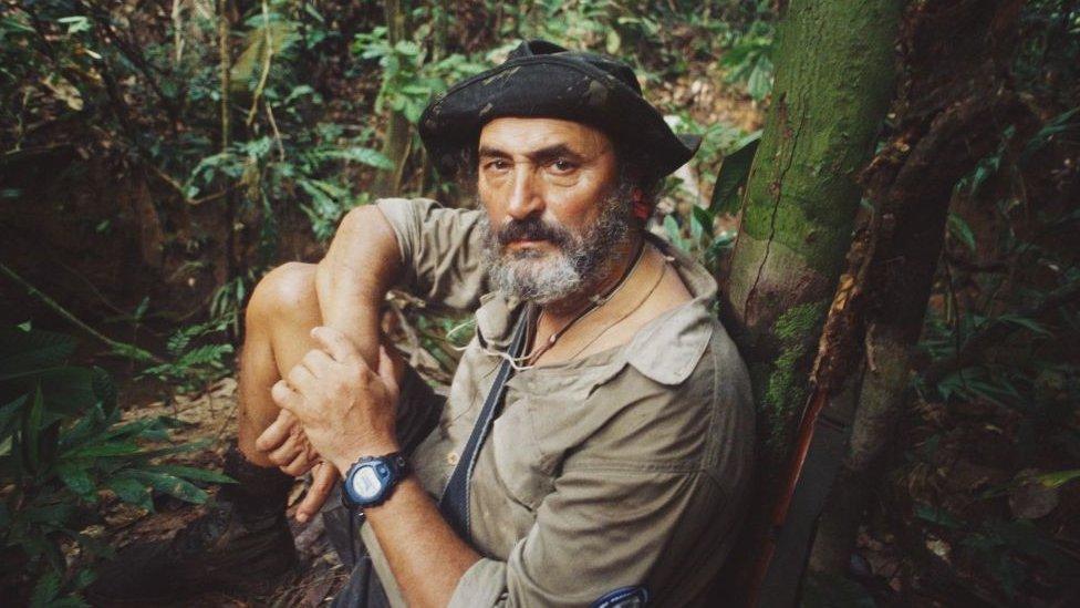 Sidni Posuelo, bivši predsednik Funaija, tokom ekspedicije 2002. godine