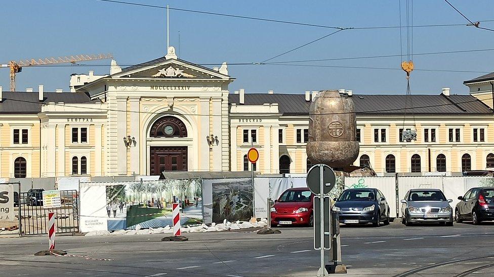 Nekadašnja zgrada Glavne železničke stanice u Beogradu