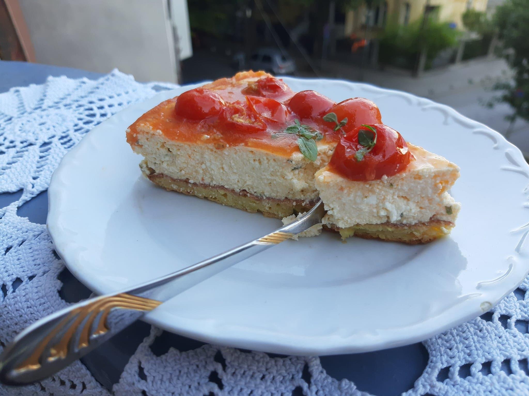 Recept za slani čizkejk (cheesecake) 3