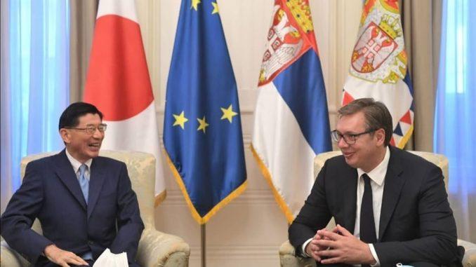 Ambasador Japana u oproštajnoj poseti kod predsednika Srbije 1