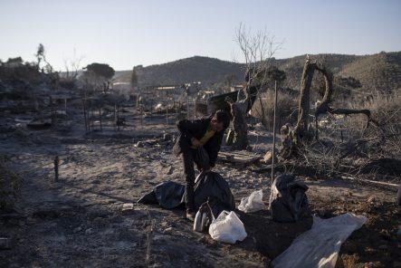 Malo ostalo od grčkog izbegličkog kampa Morija posle drugog požara 5
