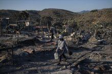 Malo ostalo od grčkog izbegličkog kampa Morija posle drugog požara 10