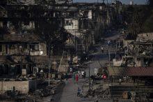 Malo ostalo od grčkog izbegličkog kampa Morija posle drugog požara 8