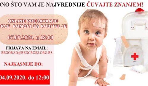Online predavanje prve pomoći za roditelje u organizaciji Crvenog Krsta 5