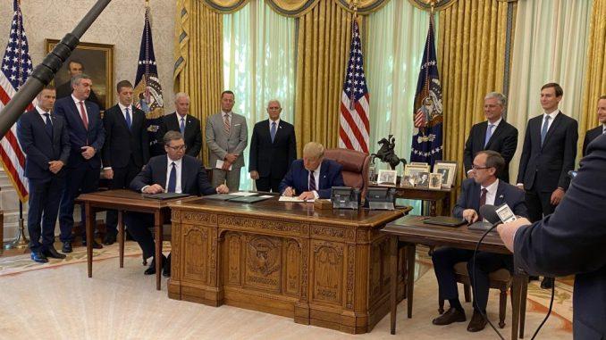 Vučić i Hoti potpisali s Trampom sporazum o ekonomskoj normalizaciji odnosa 1