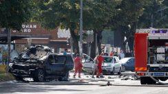 Eksplodirao auto na Novom Beogradu, preminuo povređeni Strahinja Stojanović (FOTO) 3