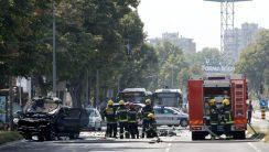 Eksplodirao auto na Novom Beogradu, preminuo povređeni Strahinja Stojanović (FOTO) 2
