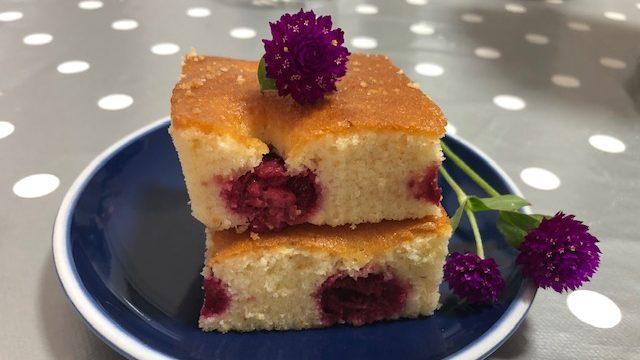 Pom poms - brzi kolač sa malinama (recept) 3