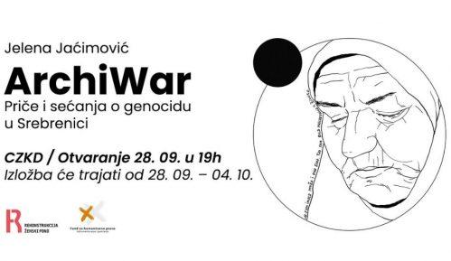 Izložba Jelene Jaćimović o Srebrenici u CZKD-u 9